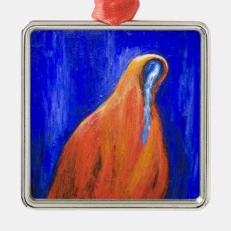 Stabat Mater Dolorosa Red ( Christian surrealism ) Metal Ornament