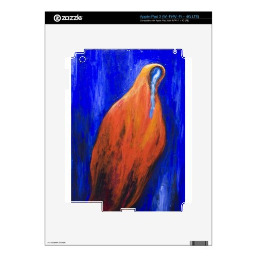 Stabat Mater Dolorosa Red ( Christian surrealism ) Skins For iPad 3