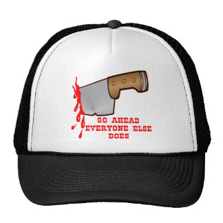 Stabbed By Knife In The Back Trucker Hat