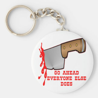 Stabbed By Knife In The Back Keychains