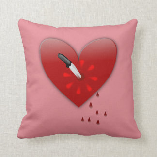 stabbed in the heart anti valentines day pillow