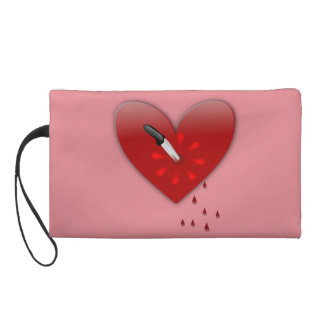 stabbed in the heart anti valentines day purse wristlet