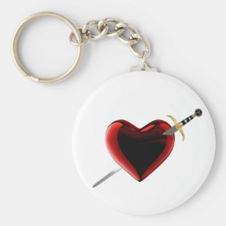 Stabbed In The Heart Key Chain