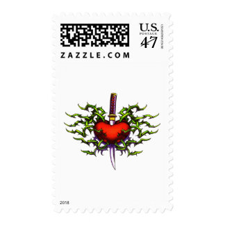 Stabbed in the heart postage