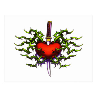 Stabbed in the heart postcard