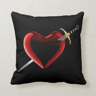 Stabbed In The Heart Reversible Pillow