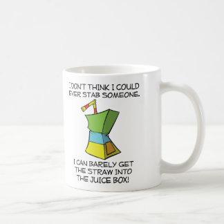 Stabbing Juice Boxes Funny Mug