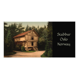 Stabbur, Oslo, Norway Customized Photo Card