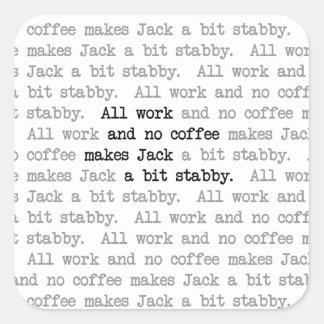 Stabby Jack Pegatina Cuadrada