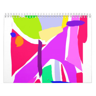 Stability Red Ground Big Trees Tremendous Calendar