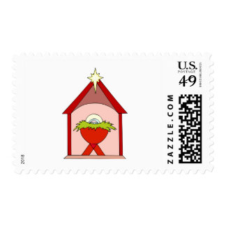 Stable Baby Jesus Crib Stamps