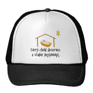 Stable beginning trucker hat