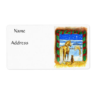 Stable Christmas Label