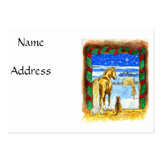 Stable Christmas Large Business Card