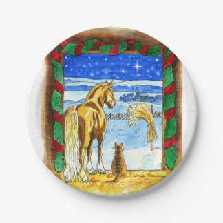Stable Christmas Paper Plate