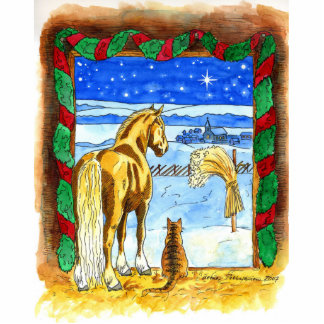 Stable Christmas Photo Cutout