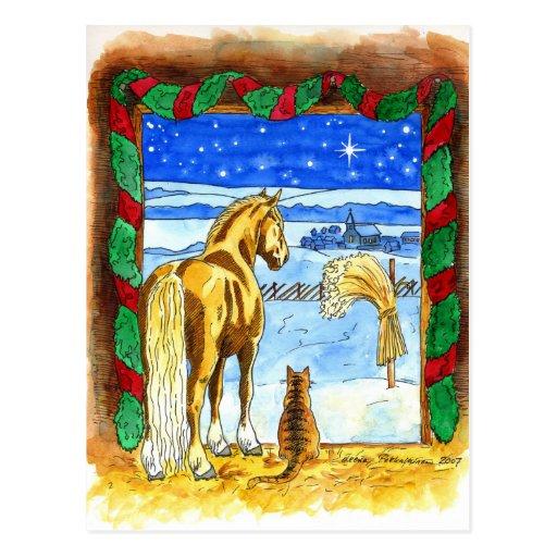 Stable Christmas Postcard