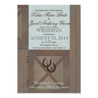 Stable Doors Barn Wedding Card