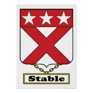 Stable Family Crest Posters