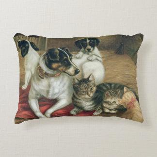 Stable friends decorative pillow