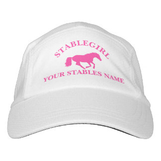 Stable girl pink pony equestrian horse design headsweats hat