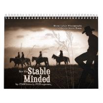 Stable Minded Western Horse Lover 12 Month Calendar