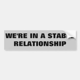 Stable Relationship / Horse Trailer Car Bumper Sticker