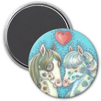 Stablemates Pinto Ponies HORSE MAGNET Round