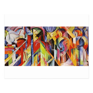 Stables by Franz Marc Postcard