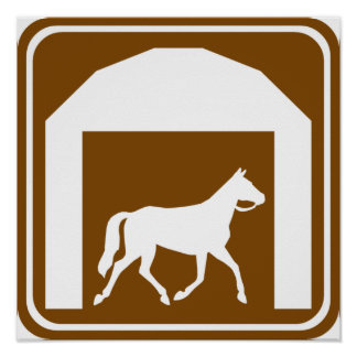 Stables Highway Sign Poster