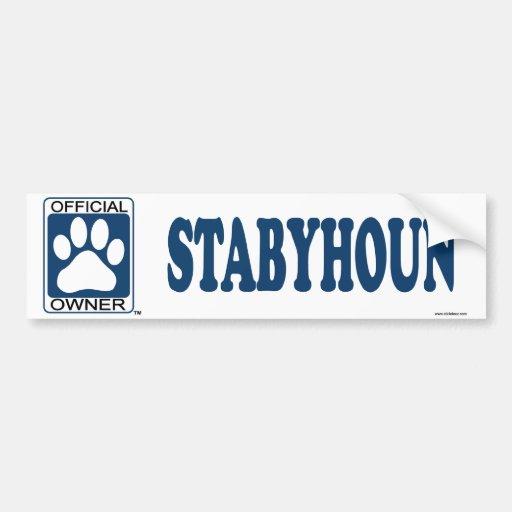 STABYHOUN_Blue Car Bumper Sticker