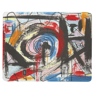 Staccato-Hand Painted Abstract Art Brushstrokes Journal