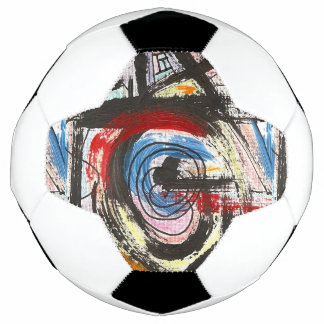 Staccato-Hand Painted Abstract Art Brushstrokes Soccer Ball