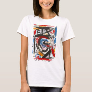 Staccato-Hand Painted Abstract Art Brushstrokes T-Shirt