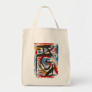 Staccato-Hand Painted Abstract Art Brushstrokes Tote Bag