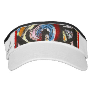 Staccato-Hand Painted Abstract Art Brushstrokes Visor