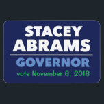 """Stacey Abrams Governor car magnet with date!<br><div class=""""desc"""">Show your support for Stacey Abrams with this flexible car magnet. The official campaign isn&#39;t offering magnets,  so we made one. All proceeds will be donated to the campaign every two weeks until voting day! Place those orders today!</div>"""
