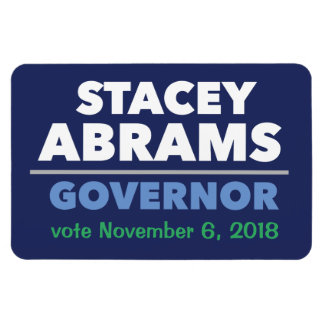 Stacey Abrams Governor car magnet with date!