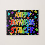 """[ Thumbnail: """"Stacey"""" First Name, Fun """"Happy Birthday"""" Jigsaw Puzzle ]"""