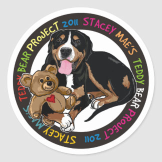 Stacey Mae Teddy Bear Sticker