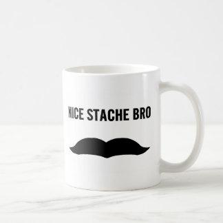 Stache agradable Bro Taza De Café
