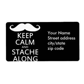 Stache Along Label