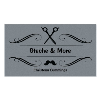 Stache And More Barbershop Business Card