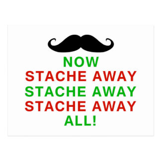 Stache Away All Postcard
