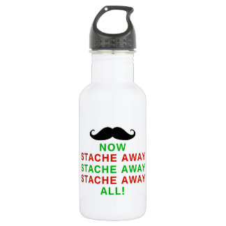 Stache Away All Stainless Steel Water Bottle