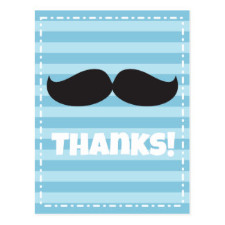 Stache Blue Postcard