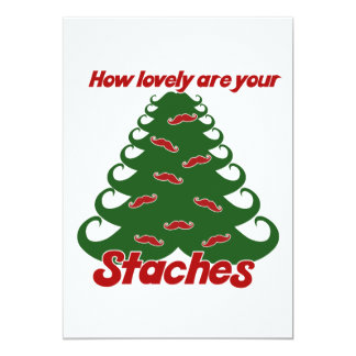 Stache Christmas Tree Card
