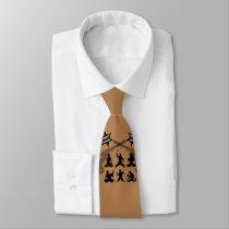 Stache cowboy neck tie