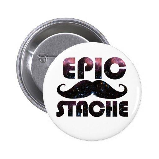 Stache épico pin