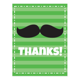 Stache Green Postcard